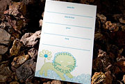 Liony letterpress child birthday invitation