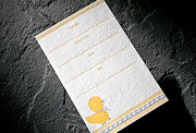 Ducky letterpress play date invitation