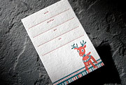 Reindeer letterpress holiday party card