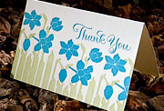 Garden calligraphy thank you note