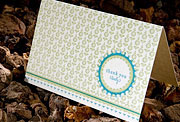 Hampton letterpress eco-friendly thank you