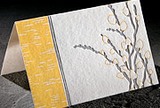 Willow letterpress bamboo note card (formerly 351U)