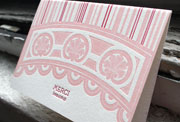 cannes letterpress pink red french thank you card