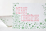 merry-flake-letterpress folded-card