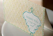 Croft Terrace flat printed thank you cards