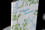 Flourish letterpress printed anniversary cards