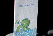 Liony letterpress printed congratulations cards