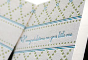 Little on baby announcement letterpress card