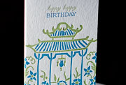 Ming letterpress printed birthday cards