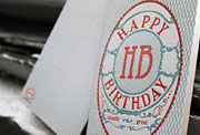 Simply happy birthday letterpress card