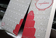 Cake congratulations letterpress card