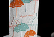 Shower letterpress printed shower cards