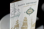 Travel Far and Wide letterpress printed birthday cards