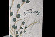 Sympathy Willow letterpress printed sympathy cards