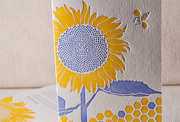 sunflower-letterpress-folded-card