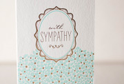 gazar-sympathy-letterpress and foil-folded-card