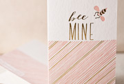 bee-mine-letterpress and foil-folded-card