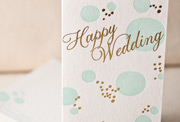 happy-wedding-letterpress and foil-folded-card