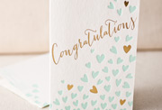 heartfelt-congratulations-letterpress and foil-folded-card