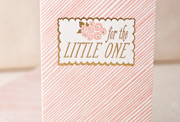 little-one-pink-letterpress and foil-folded-card