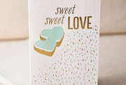sweet-sweet-love-letterpress and foil-folded-card