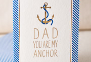 dad-anchor-letterpress and foil-folded-card