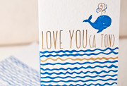 love-you-a-ton-letterpress and foil-folded-card
