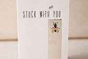 stuck-on-you-letterpress and foil-folded-card
