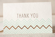chevron-thank-you-letterpress and foil-folded-card