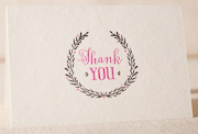 thank-you-laurel-letterpress and foil-folded-card