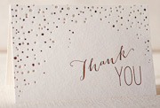 sparkling thank you letterpress and foil-folded-card