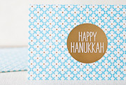 happy-hanukkah-letterpress and foil-folded-card