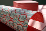 Savoy red and green vintage gift wrap