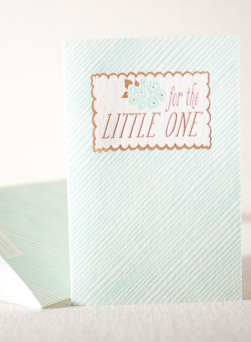for-the-little-one-letterpress and foil-folded-card