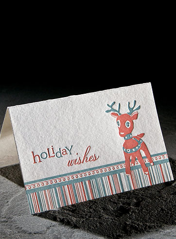 Letterpress cards, letterpress greeting cards, eco gift wrap | Smock from smockpaper.com