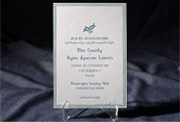 the breton wedding invitation is part of Smock's letterpress & foil collection. free shipping, free