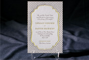 the dawson wedding invitation is part of Smock's letterpress & foil collection. free shipping, free