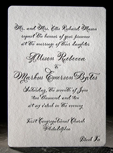 Vintage letterpress wedding invitation Haddington previous 1 2 3 next