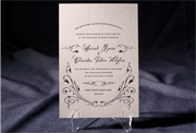 the everest wedding invitation is part of Smock's letterpress & foil collection. free shipping, free