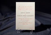 the fitzroy-custom wedding invitation is part of Smock's letterpress & foil collection. free shippin