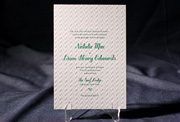the hekla wedding invitation is part of Smock's letterpress & foil collection. free shipping, free c