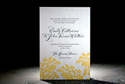 the rhon wedding invitation is part of Smock's letterpress & foil collection. free shipping, free cu