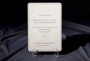 the sabion wedding invitation is part of Smock's letterpress & foil collection. free shipping, free