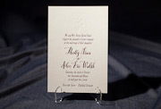 the tatra-custom wedding invitation is part of Smock's letterpress & foil collection. free shipping,