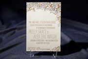 the tatra wedding invitation is part of Smock's letterpress & foil collection. free shipping, free c