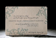 the vettore wedding invitation is part of Smock's letterpress & foil collection. free shipping, free