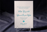 the walsh wedding invitation is part of Smock's letterpress & foil collection. free shipping, free c